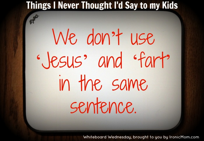 Andrea WW - Jesus and fart in sentence