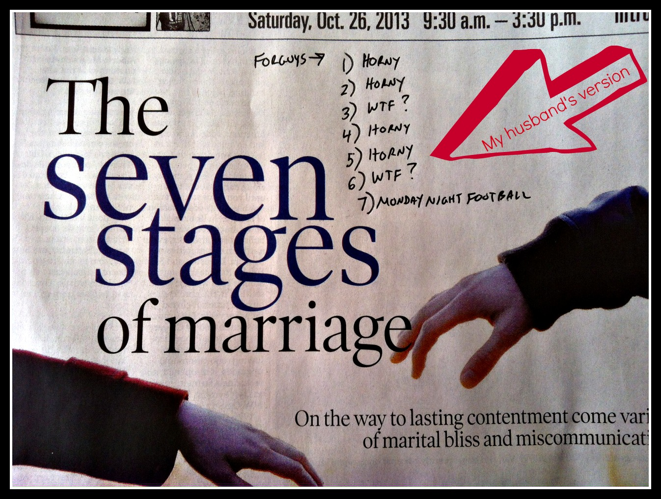 marriage headline