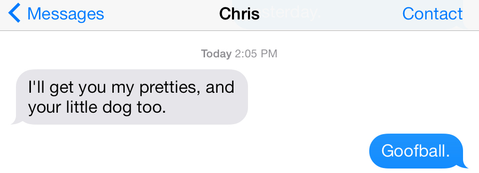 Chris acne text