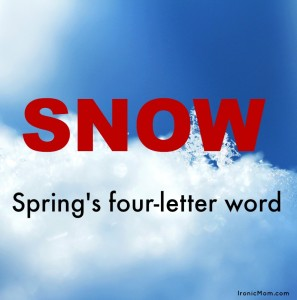 Snow Spring 4-letter word