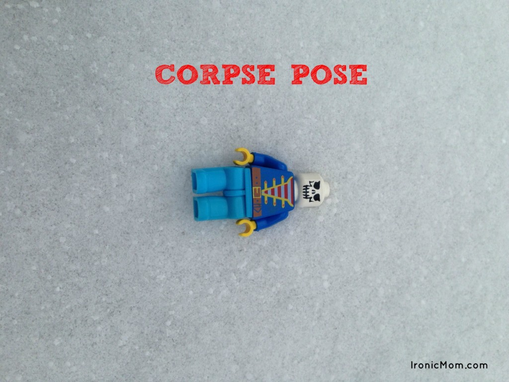 Lego Yoga Corpse Pose