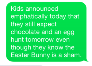 Easter Bunny is a sham